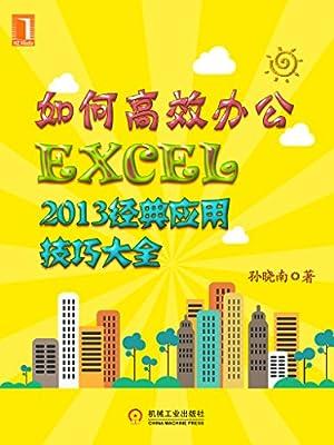 如何高效办公:Excel2013经典应用技巧大全.pdf