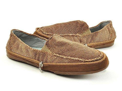 Gonna 高乐 侧拉链可折叠便捷舒适休闲鞋 男 男帆布鞋 1230B-1M brown