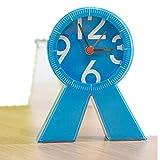 欣兰雅舍 简约儿童学生小闹钟 创意可爱懒人个性床头钟正品座钟 精美彩盒礼盒包装 (蓝色)-图片