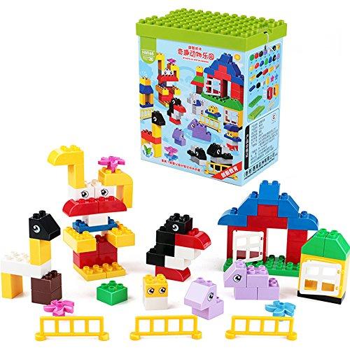 拼插宝益智积木塑料育儿乐高式大玩具趣味颗粒婴幼儿早教兼容积木积木岗亭玩具交通图片