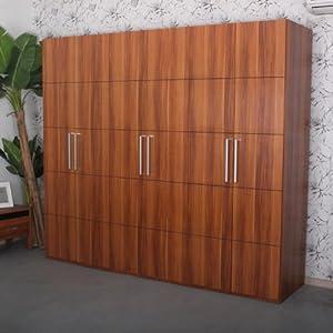 金吉家 6门衣柜 超大空间 内有小锁抽屉 衣柜高2.1米 时尚大气衣柜 2490X610X2100m
