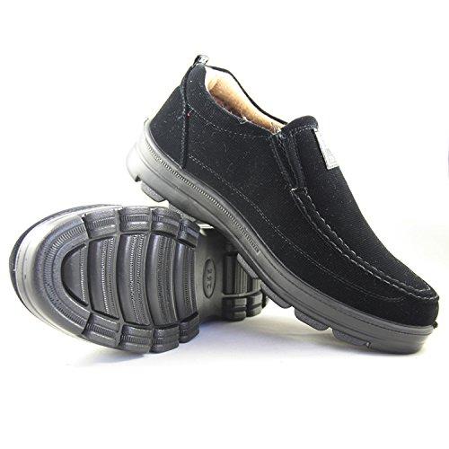 玉兰老北京布鞋 男冬款商务休闲超轻加厚底防滑棉靴1616-112