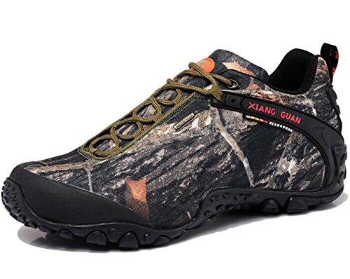 祥冠 英伦时尚系带低帮户外登山徒步鞋 网布休闲运动越野鞋 防水防滑耐磨旅游行鞋 情侣鞋