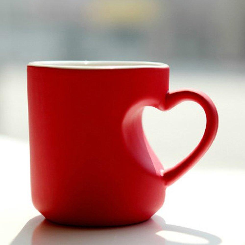 照片杯子diy心形马克杯定制情侣水杯创意生日礼物