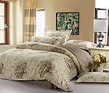 (家纺节,优惠闪购)VooChoo 卧趣 全棉斜纹被套床单双人四件套 超耐磨环保染色 AB版加柔 适合1.5/1.8米床 名门之秀-图片