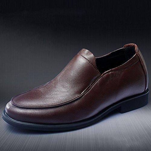 Gog 高哥 内增高男鞋商务休闲鞋真皮鞋 男士增高鞋6cm秋季