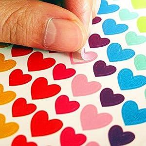 迷你彩色装饰贴纸 圆点爱心鸡心型可爱文具 贺卡明信片手机相册贴(162