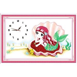 有十字绣和拼布,图案包括动物,风景,花卉,卡通,人物,中国风,钟表等,都