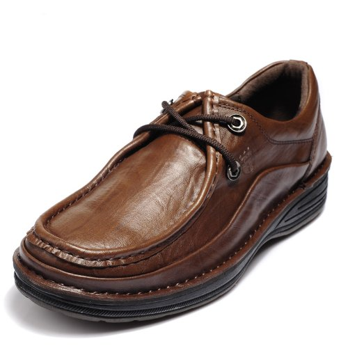 Vancamel 西域骆驼 新款真皮经典高端系带正装鞋 英伦简约舒适男鞋 头层牛皮奢华男鞋 绅士风个性商务休闲鞋 厚底男鞋
