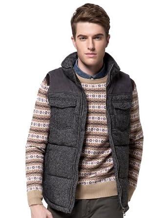 r麦奇宝路冬装新款男士棉马甲棉背心 冬季无袖保暖棉服 男装外套