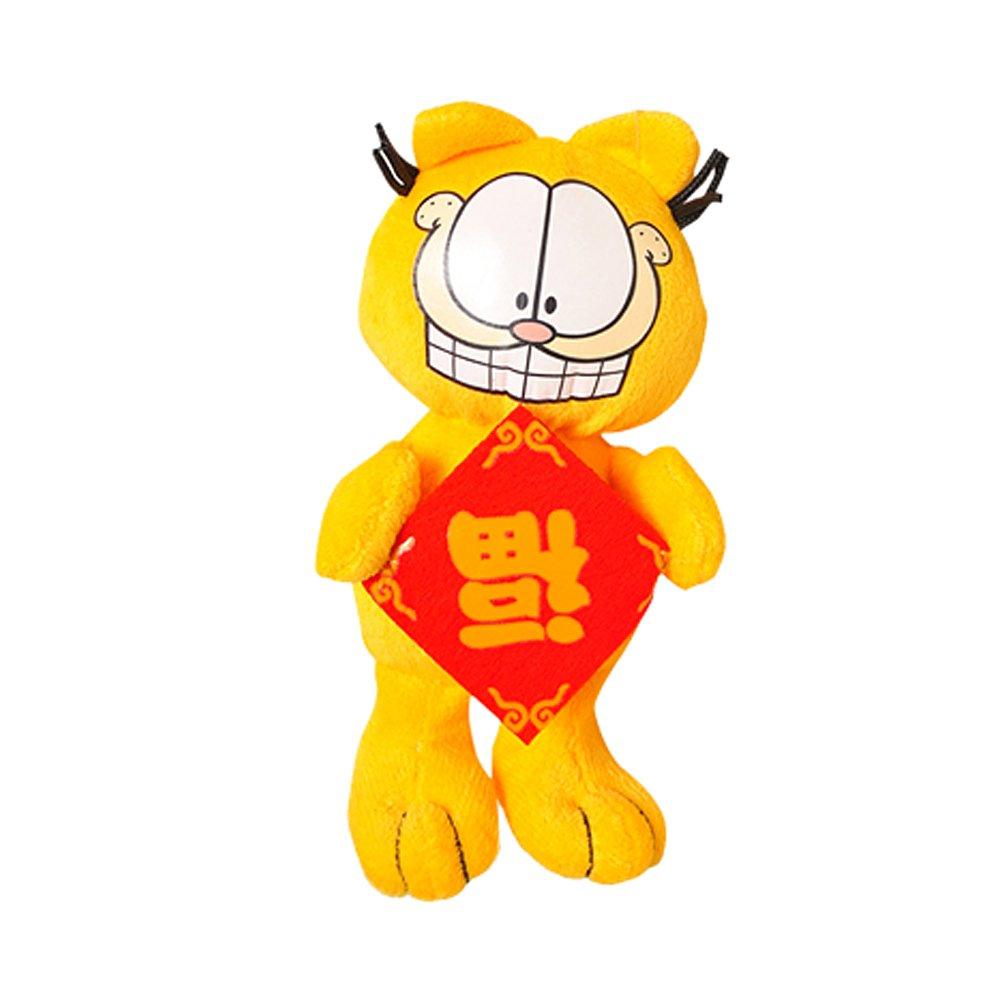 jttoy 江通玩具 精品毛绒玩偶 福字加菲猫(10cm)(不同表情随机发放)图片