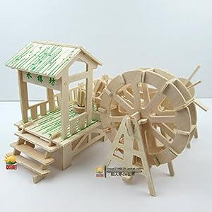 朝阳益智 创意木质diy小屋手工制作房子礼物 建筑模型