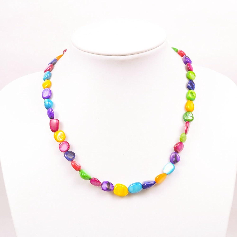 萃尚 时尚彩色贝壳项链-珠宝首饰-亚马逊中国