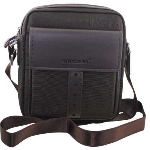 Battle-ax 男包 男士商务公文包 棕色 单肩包 斜跨包 手提包 电脑包 (SB-1258-4竖款)-图片