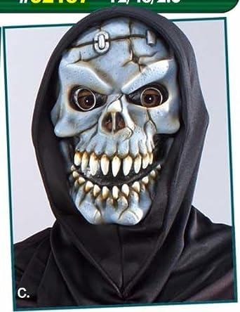鬼面具_手工面具制作步骤图片_日本鬼面具-青花图片