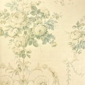 现代欧式田园大花复古卧室壁纸