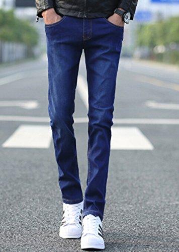 UYUK 有衣有靠 高品质男士牛仔裤 韩版纯色弹力修身小脚牛仔裤 男裤休闲长裤子潮