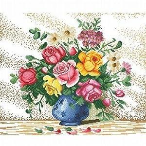 大幅客厅卧室欧式花卉油画美丽花瓶