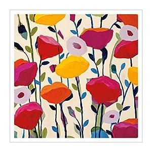 原版进口装饰画 绽放的罂粟花【bursting poppies】 81x81cm 花卉图案
