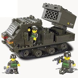 sluban 小鲁班 装甲兵团 反飞机防空火箭炮弹 拼插益智玩具 军事积木