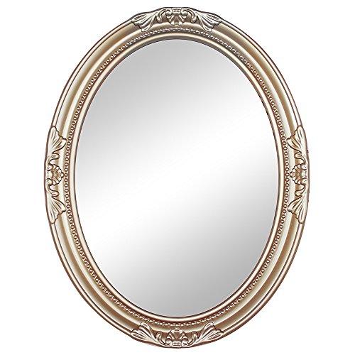 d牌 简约欧式浴室镜子 卫生间卫浴镜 椭圆镜 玄关壁挂装饰镜 其他 c款