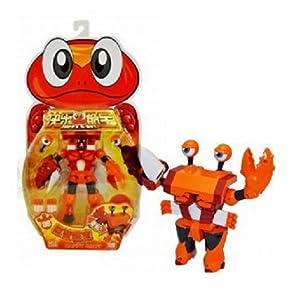 ldcx 灵动创想 快乐酷宝可爱儿童变形玩具蛙王狮王战狼熊猫巨蟹酷宝