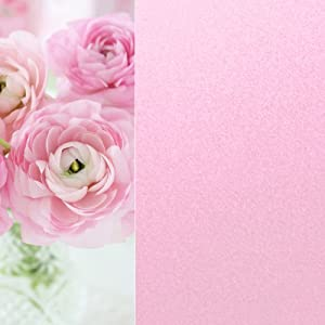 彩色玻璃贴 磨砂贴浴室窗户贴纸 防紫外线 不透明 122宽2米长 浅粉色