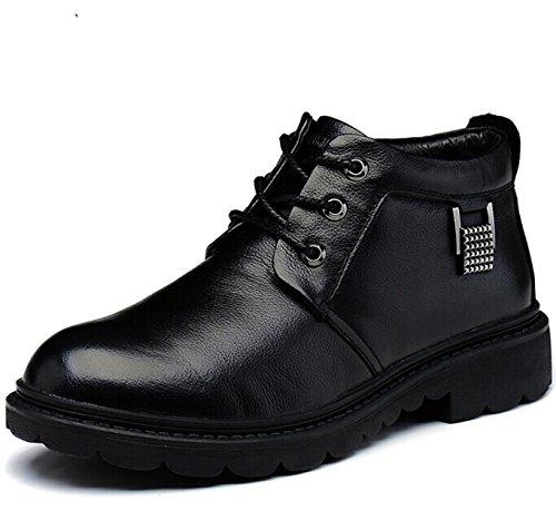 FUGUINIAO 富贵鸟 英伦系带男士保暖加毛绒高帮经典真皮牛皮商务休闲鞋正装鞋皮鞋子 复古男鞋子