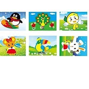 乐乐鱼 eva手工制作立体贴画 儿童diy贴画创意粘贴3d立体艺术画系列