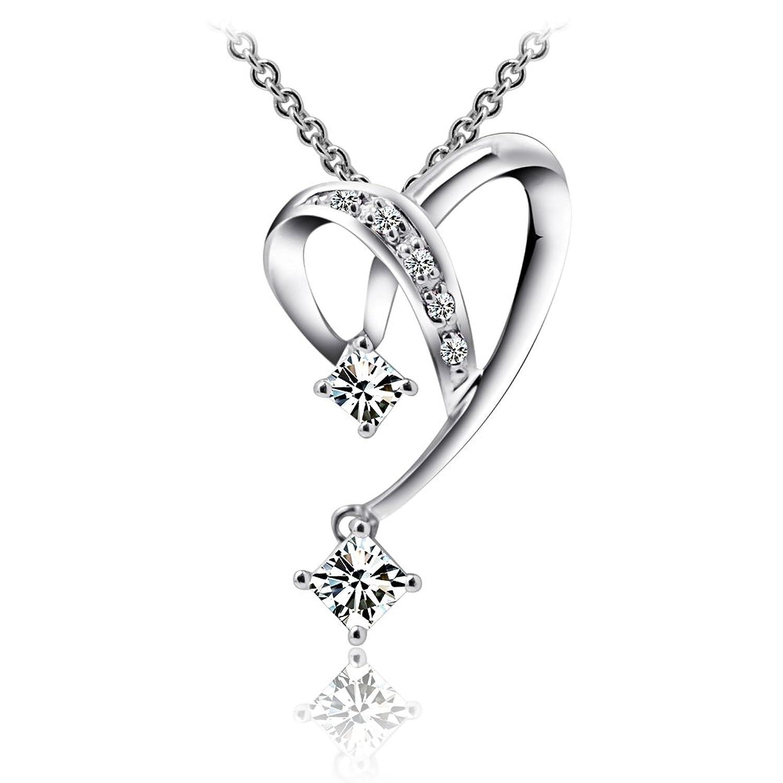 25ct方形钻石吊坠-珠宝首饰-亚马逊