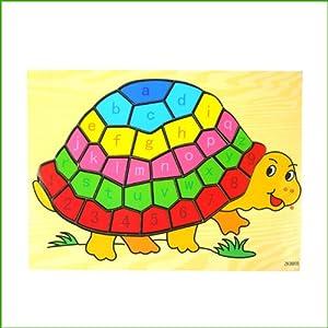 童木坊 童木坊 幼儿拼图 木制26个英文字母 数字拼图拼板 儿童益智