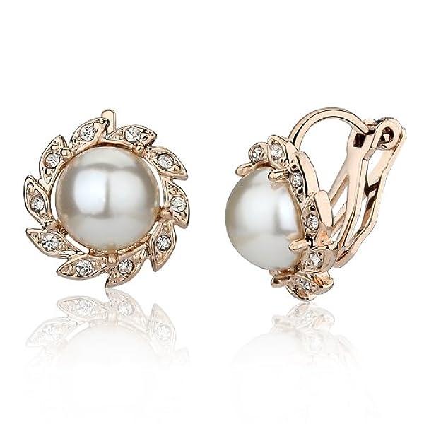 韩国时尚u型珍珠耳夹