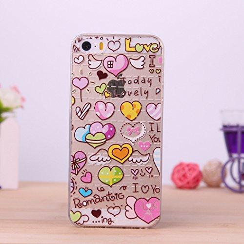 酷猫iphone5手机壳 彩绘图案iphone5s保护套 苹果5s动漫tpu手机软壳
