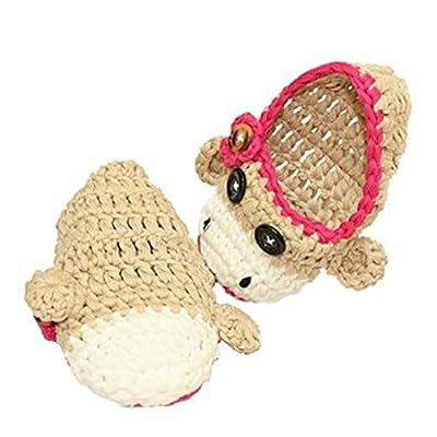 时尚猴子图案手工编织的婴幼儿鞋 童鞋 全棉手工婴儿鞋 可爱鞋子