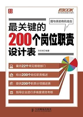 最关键的200个岗位职责设计表.pdf