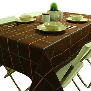 棕色餐桌桌布图片大全图片9