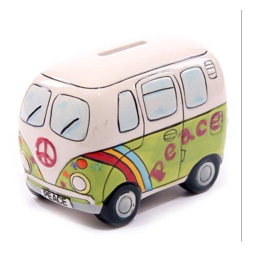 回至pearhead手绘陶瓷复古汽车存钱罐(彩绘绿)