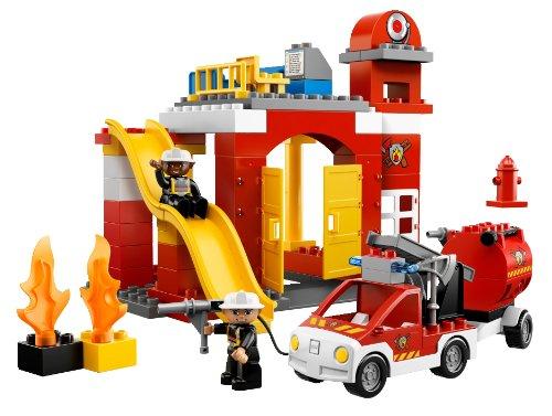 回至lego 乐高 得宝主题拼砌系列 消防局 6168