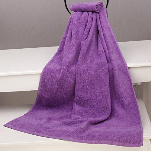 紫色论坛-成人_ruyicherry 纯色成人纯棉浴巾加厚加大男女情侣宝宝洗澡浴巾吸水 紫色