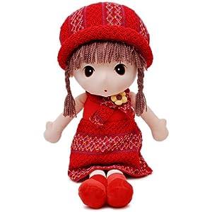 瑞奇比蒂 大眼睛田园女孩 长发娃娃玩偶 毛线红裙