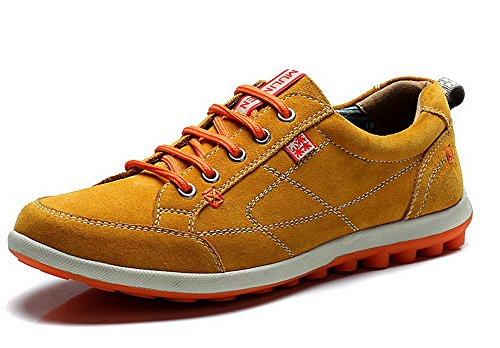 Mulinsen 2015韩版春秋季透气男鞋 运动休闲鞋 男式真皮板鞋 潮流反绒皮潮鞋 2L50009