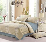 VooChoo 卧趣 单被套被罩 AB版 全棉高密斜纹印花单人被套被罩 床上用品 尺寸:160*210cm 帕米拉-图片