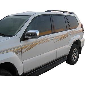 优信 丰田2007款霸道彩条普拉多车身贴纸汽车拉花全车贴高清图片
