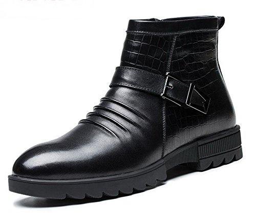 英伦时尚男鞋 真皮男靴 侧拉链男靴子 高帮马丁靴 潮流工装靴 潮男高帮男鞋子 GH6G022