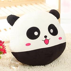 许愿精灵 快乐黑白熊猫抱枕 家居车载靠垫 生日礼物 女生 毛绒玩具