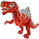 【网上城】华聪 恐龙模型玩具 脊背龙 侏罗纪恐龙仿真动物电动玩偶6630(红色)-图片
