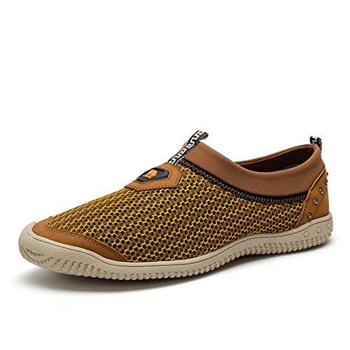 Camel 骆驼 男鞋 户外休闲透气网面鞋 新款透气套脚鞋子A522213360