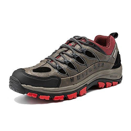 木林森 户外登山鞋 真皮男士徒步鞋透气防滑运动鞋正品