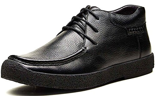 FGN 皮鞋 男士 真皮 型男高帮正装皮鞋 时尚商务休闲皮鞋 加绒时装靴 秋冬靴 男鞋119021