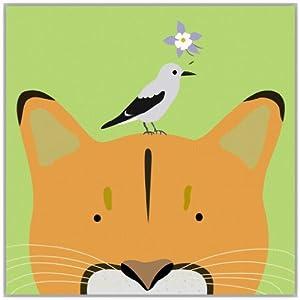 自然萌物 动物理想 n款 画集可爱清新图片儿童海报定制装饰画芯 布艺
